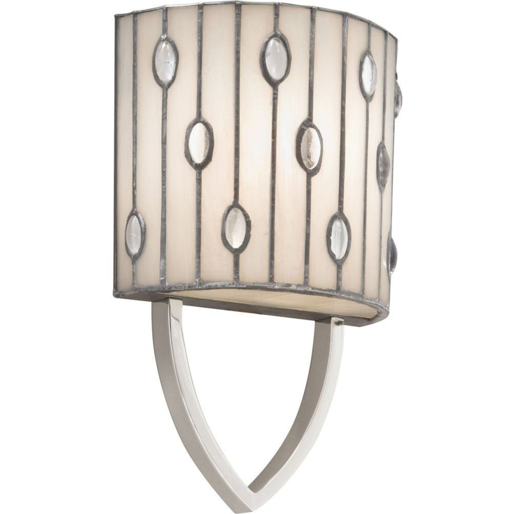 Kichler Lighting Cloudburst 1 Light Wall Sconce in Polished Nickel 69094