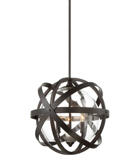 "Savoy House 7-8091-3-13 Bassett 3 Light 17"" English Bronze Outdoor Garden Chandelier"