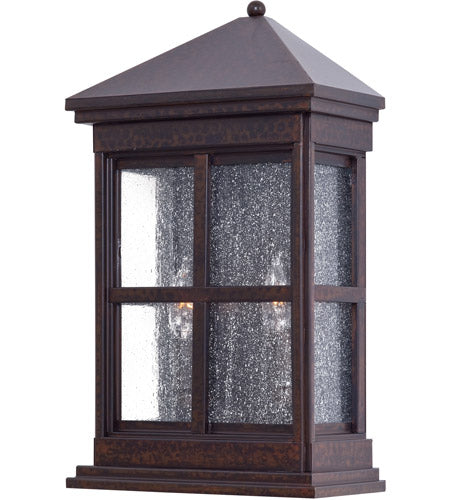 Minka-Lavery 8560-51 Berkeley 2 Light 18 inch Rust Chemical Outdoor Pocket Lantern