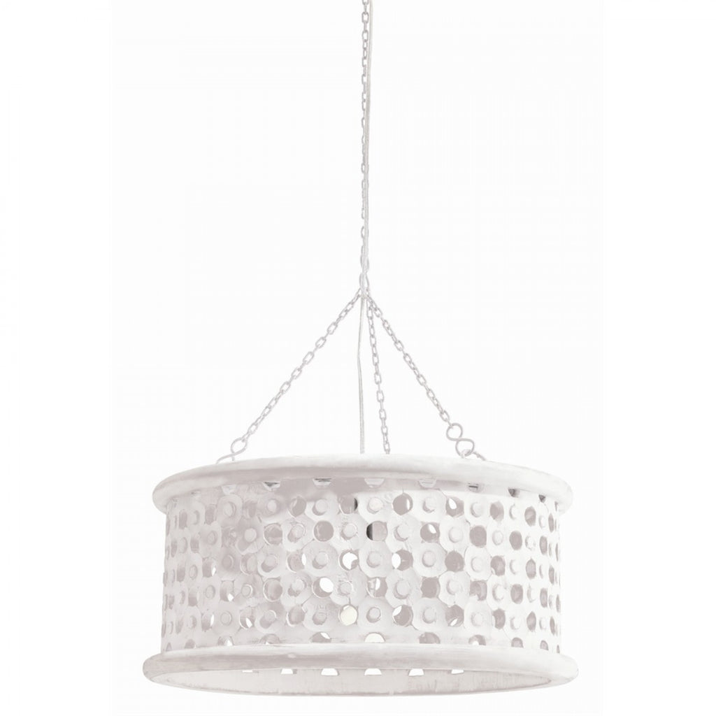 Arteriors Jarrod Small Pendant 86719 Whitewashed Wood Dia: 22in
