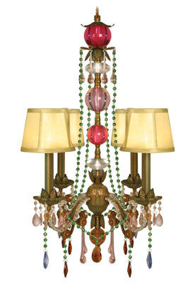 Sterling Industries 4 Light Carnivale 94-288 Pendant In Green