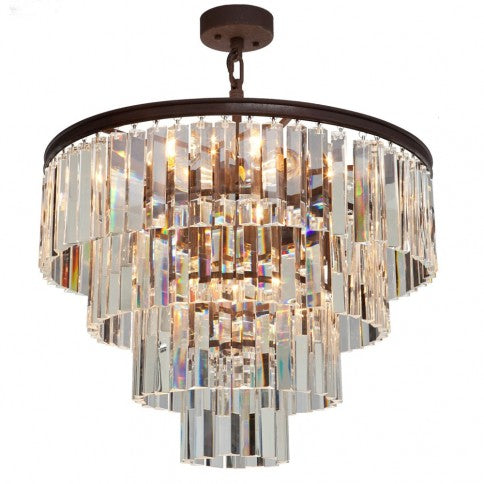 Artcraft El Dorado 9 Light AC10410JV Java Brown Crystal Chandelier