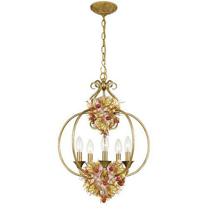 Crystorama Lighting 405-GA Lantern Murano Leaves