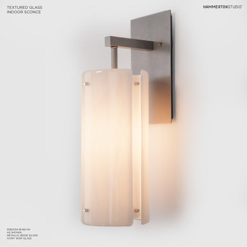 Hammerton Studio Textured Glass Wall Sconce IDB0044-18-BS-F **OPEN BOX**
