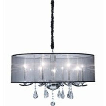 Artcraft Lighting AC369 Contessa 8-Lite 1-Tier Chandelier, Chrome