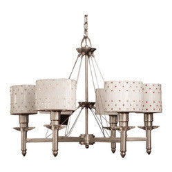 Classic Lighting 71096 BST SCN Felicia Swarovski Elements, Acrylic, Chandelier, Brushed Steel