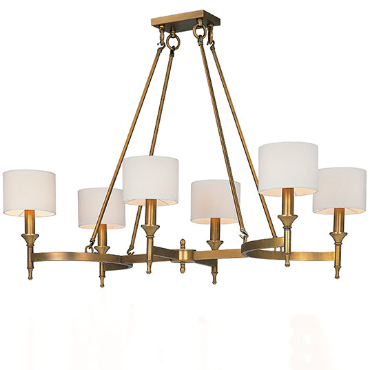 Maxim Fairmont 6-Light Chandelier 22376OMNAB