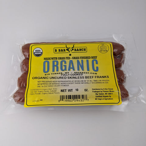 Organic Hot Dog - Skinless Style
