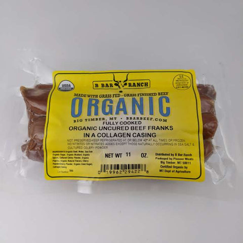 Organic Uncured Beef Franks (6/Package)
