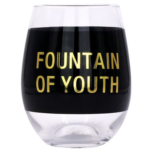 Fountain of Youth - Stemless Wine Glass