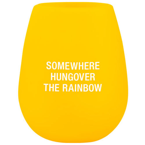 Hungover the Rainbow Silicone Wine Cup