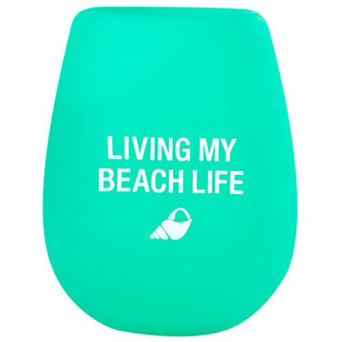 Living My Beach Life Silicone Wine Cup