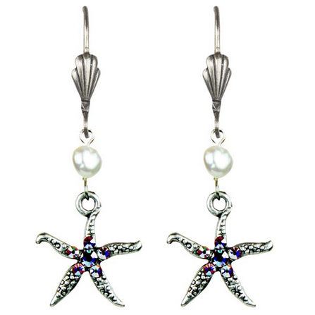 Eden Starfish Earrings with Swarovski® Crystals