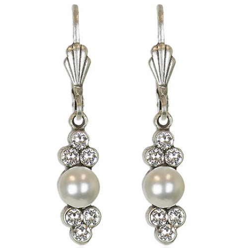 Cassidy Delicate Swarovski® Crystal & Pearl Earrings