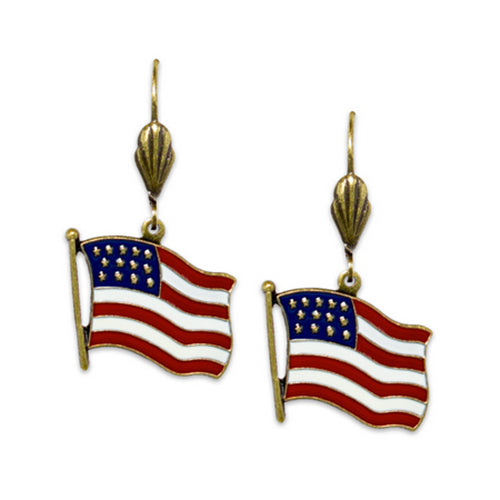 Classic American Flag Earrings