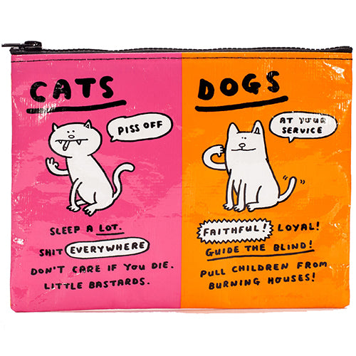 Cats & Dogs Zipper Pouch
