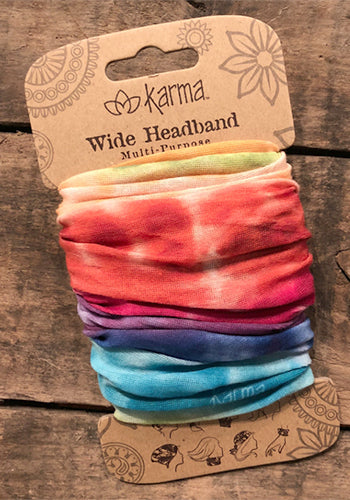Wide Headband - Rainbow Tie Dye