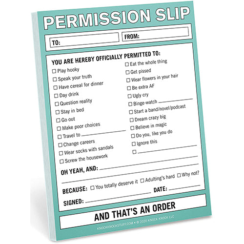 Permission Slip Nifty Notes