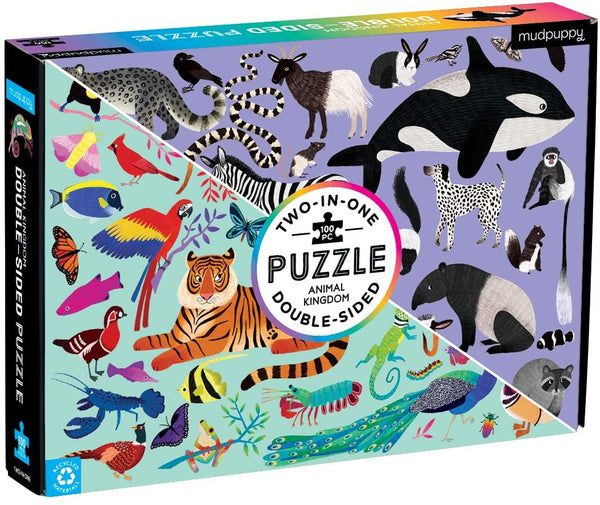 Animal Kingdom 2 in 1  Puzzle - 100 piece