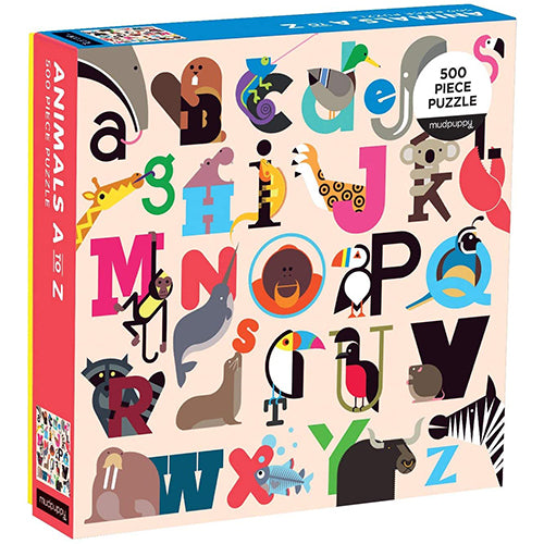 Animals A to Z Puzzle - 500 piece