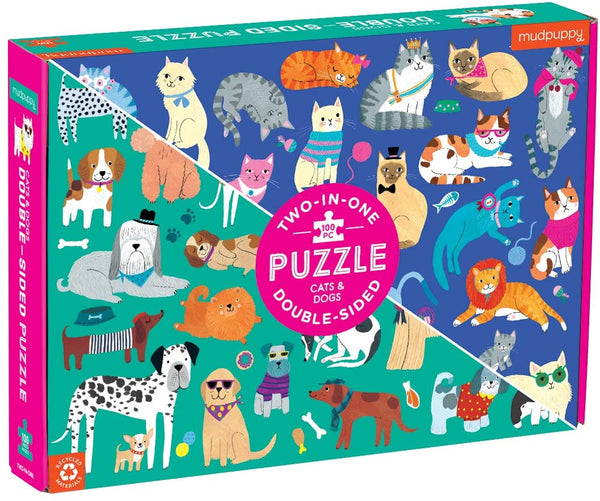 Cats & Dogs 2 in 1  Puzzle - 100 piece