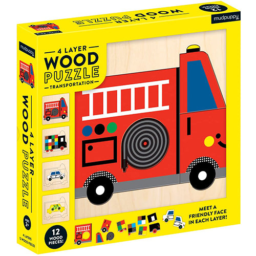 Transportation Wood Puzzle