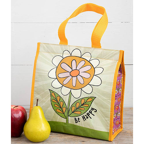 Be Happy Insulated Lunch Tote