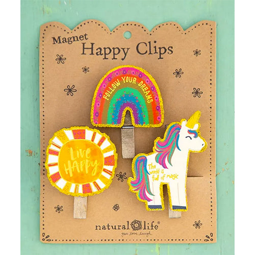 Unicorn Magnet Happy Clips