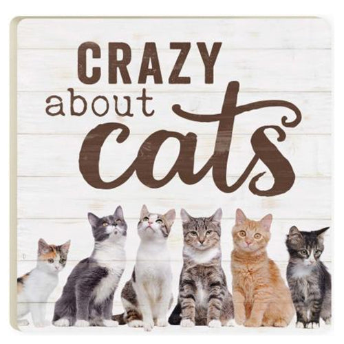 Crazy About Cats Ceramic Coaster