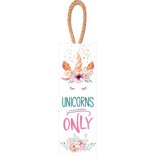 Unicorns Only Door Hanger