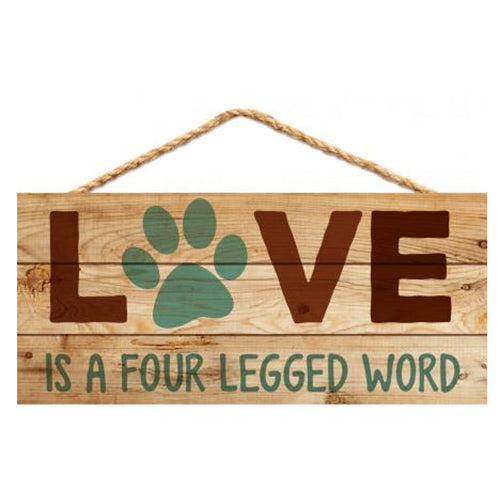 Love Is a Four Legged Word Hanger