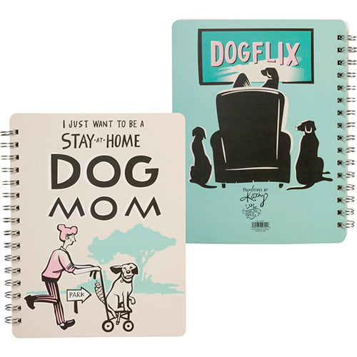 Stay At Home Dog Mom - Spiral Notebook