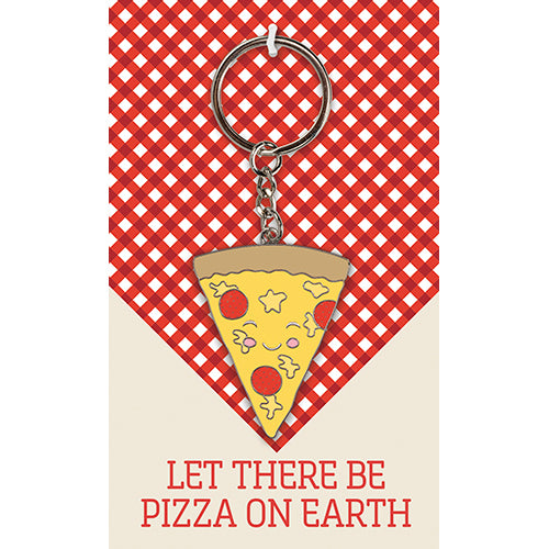 Let There Be Pizza On Earth Keychain