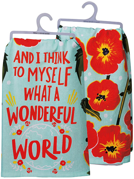 What A Wonderful World - Dish Towel