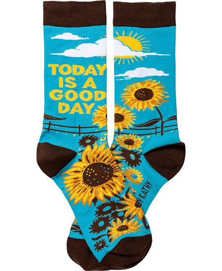 Today Is A Good Day Crew Socks