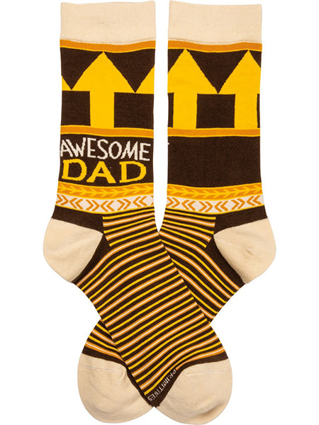 Awesome Dad Crew Socks