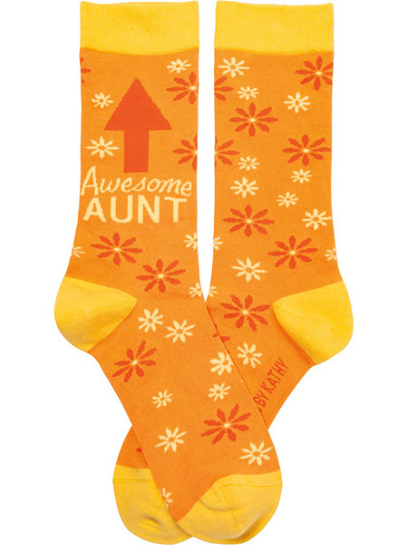 Awesome Aunt Crew Socks
