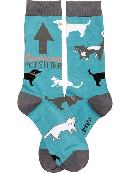 Awesome Pet Sitter Crew Socks