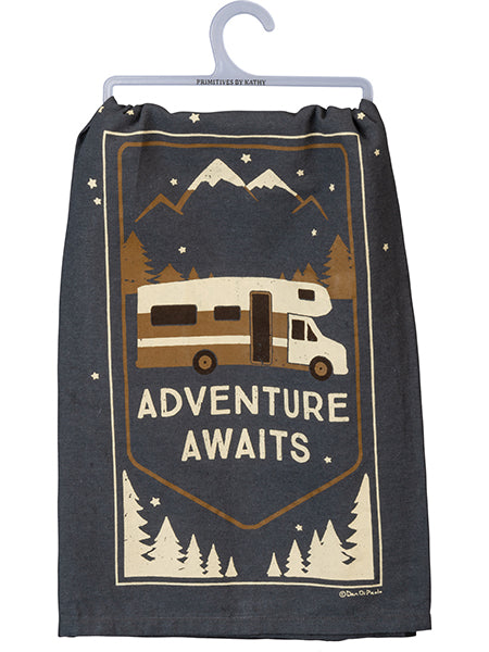 Adventure Awaits - Dish Towel