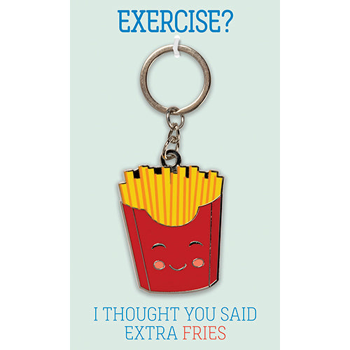 Exercise I Thought You Said Extra Fries Keychain