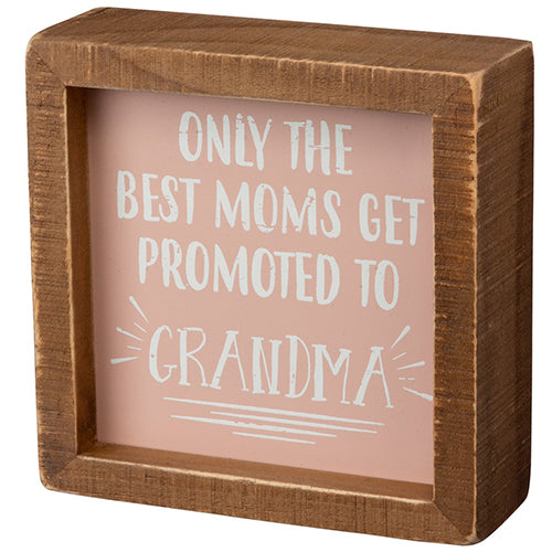 Promoted to Grandma Inset Box Sign