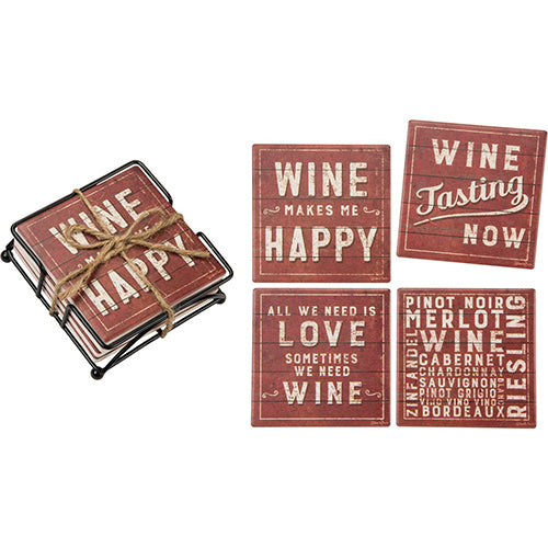 Rustic Wine - Coaster Set