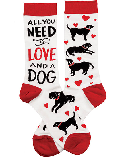 All You Need Is Love and a Dog Crew Socks