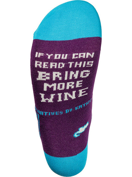 If You Can Read This Bring More Wine Crew Socks