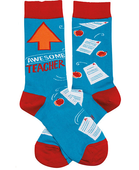 Awesome Teacher Crew Socks