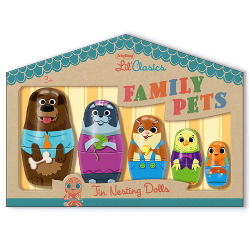 Family Pets Tin Nesting Dolls