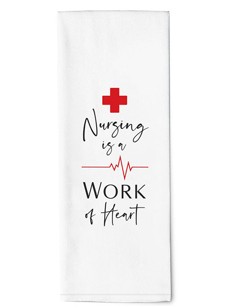 Nursing Is Work of Heart - Dish Towel