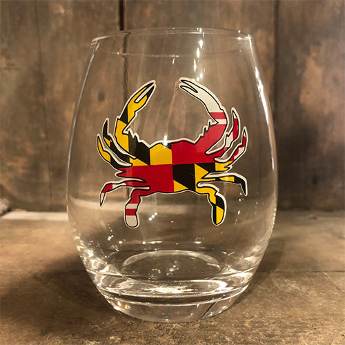 Maryland Crab Stemless Wine