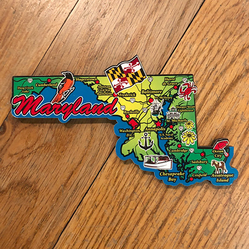 Maryland Map Deco Magnet