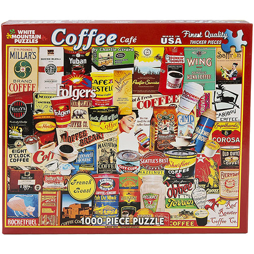 Great Coffee Brands Puzzle - 1000 piece